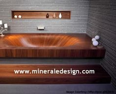 Polished Concrete Bathtub Surrounds (Hobs) -------------------- Call us- +1 717 445 6269  www.mineraledesign.com