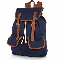 Sac à dos bleu marine avec poches et lanières contrastantes - sacs à dos - maroquinerie - Homme