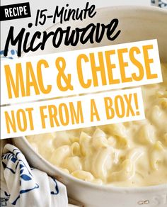 You don't need a box of Mac and Cheese to make it quickly in the microwave anymore! Food Network Kitchen's 15-minute recipe is a total breakthrough.