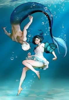 everyone should use LINE webtoon and at least attempt to read Siren's Lament Manga Anime, Film Manga, Anime Art, Mermaid Drawings, Mermaid Art, Mermaid Paintings, Mermaid Tails, Tattoo Mermaid, Vintage Mermaid