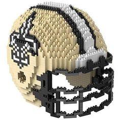 New Orleans Saints BRXLZ Team Helmet 3D Puzzle Construction Toy 1520 Pieces
