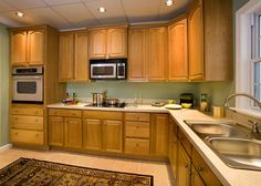 Paint Ideas For Kitchen With Oak Cabinets Google Search