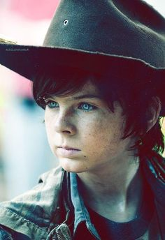 Carl Grimes - Chandler Riggs He's grown enough to be on my 'younger' board. Time passes so fast!