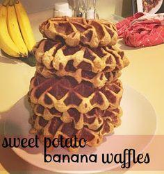 Sweet Potato Banana Waffles