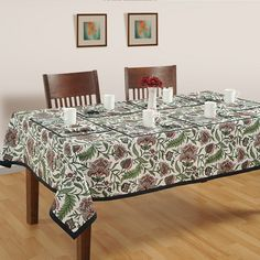 Buy murky green table covers, designer table covers online in india from saavra.com &give your guests a wonderful treat with these fabulous designs.