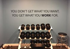 Motivational Quote Wall Decal Office Decor Gym by JandiCoGraphix                                                                                                                                                                                 More