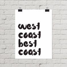 West Coast Best Coast Poster • California Casual • Modern Coastal Decor • Little Gold Pixel  #westcoast #bestcoast #posters #posterdesign #minimal #minimalist #typography #brushlettering #moderncoastal #coastal #beachlife #beachart #beachdecor #CoastalDecor #moderncoastaldecor #california #californiaart #californiacasual #PNW #pnwart #oregon #oregoncoast #washingtoncoast #washingtonstate #surfer #surferlife