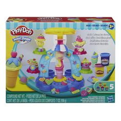 Amazon.com: Play-Doh Sweet Shoppe Swirl and Scoop Ice Cream Playset: Toys & Games
