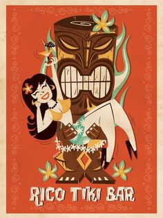 Tiki by Poleta Art, via Behance