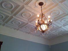 Laurel Wreath – Faux Tin Ceiling Tile – – Best DIY images in 2019 Plastic Ceiling Tiles, Drop Ceiling Tiles, Faux Tin Ceiling Tiles, Tin Tiles, Dropped Ceiling, Home Ceiling, Ceiling Panels, Ceiling Lights, Gypsum Ceiling