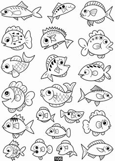 Pin de giane norberto em giane cartoon drawings of animals, coloring pages Cartoon Fish, Cartoon Drawings Of Animals, Fish Drawings, Doodle Drawings, Doodle Art, Drawing Animals, Fish Cartoon Drawing, Easy Fish Drawing, Fish Drawing For Kids