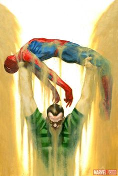 Sandman vs. Spider-Man by Gabriele Dell'Otto