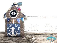 Strandhaus, Beachhouse maritim - aus Stoff genäht von dünenmädchen auf DaWanda.com