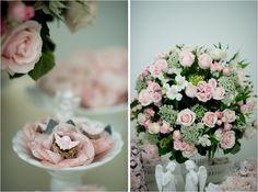 Rosa seco com branco