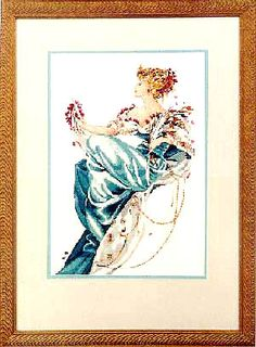 Summer Queen - Mirabilia Cross Stitch Pattern. The stunning companion to Winter Queen, the Summer Queen also commands admiration all on her own.  From the top o