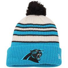 6ebebe94a Carolina Panthers New Era Traditional Stripe Cuffed Knit Hat - Blue