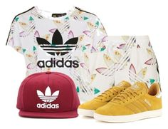 """""""Untitled #400"""" by beautifully-ambitious on Polyvore featuring Topshop and adidas Originals"""