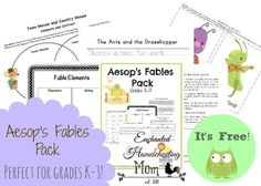Aesops Fables Pack - Enchanted Homeschooling Mom