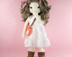 Amigurumi crochet doll Sweet doll in an aqua by BubblesAndBongo