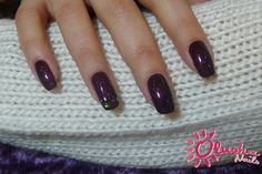 Shellac, Dark Lava with Swarovski crystals.