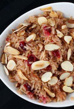 Fabulous side-dish #recipe - Cranberry Rice Pilaf