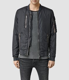 Mens Combat Bomber Jacket (Slate Grey) - product_image_alt_text_1