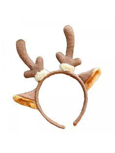 54c1d7a5cc549 Christmas Hat Giraffe Deer Ear Headband Adults Kids Xmas Hair Hoop - Deer  Ear - C61875ADC9G