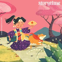 Momotaro the Peach Boy saves the day in Storytime 26's Japanese legend. Art by Quang Phung Nguyen (https://www.behance.net/phungnguyenquang) ~ STORYTIMEMAGAZINE.COM