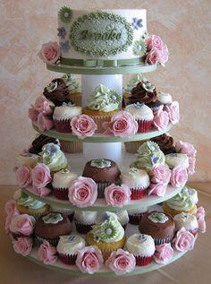 Christening Cupcake Tower | Flickr - Photo Sharing!