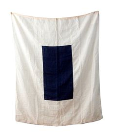 Large White and Blue Nautical Flag by foldingchairs
