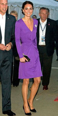 Pretty in purple.  Oh.  And William looks good too.