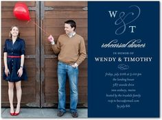 Shutterfly offers rehearsal dinner invitations in beautiful styles and colors. Create wedding rehearsal dinner invitations to celebrate your special day + Save up to Wedding Paper Divas, Wedding Party Invites, Rehearsal Dinner Invitations, Rehearsal Dinners, Bridal Shower Invitations, Wedding Dinner, Wedding Rehearsal, Our Wedding, Wedding Ideas