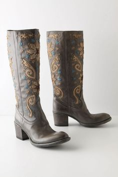 I LOVE boots. I would wear them everyday if I could. And I love these particular boots. A girl can dream...