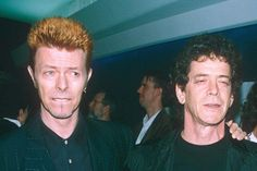David Bowie & Lou Reed looking like David Spade and Gilbert Gottfried.