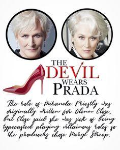 Glenn Close, Devil Wears Prada, 101 Dalmatians, Meryl Streep, Sick, Writing, Movie Posters, Film Poster, Being A Writer