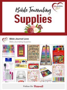 Bible Journaling Supplies #biblejournaling #biblejournallove #biblejournalingsupplies