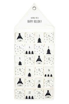 Advent calendar in cotton canvas with small pockets, printed text, and a grommet for hanging. Cozy Christmas, Christmas Crafts, Fabric Advent Calendar, Advent Calendars, Christmas Calendar, Countdown Calendar, Diy Couture, Christmas Traditions, Baby Gifts