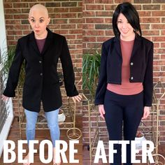 Learn how to CROP or SHORTEN a blazer with this easy DIY Upcycle tutorial! Great if you are petite/short and your blazers are always too long.