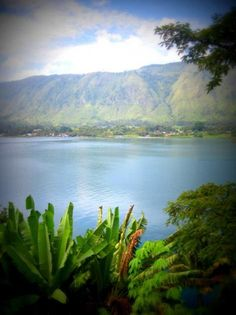 Lake Toba in Sumatra, Indonesia