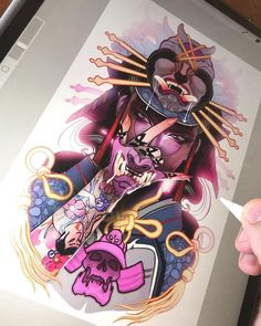 Image may contain: 1 person Japanese Tattoo Art, Japanese Tattoo Designs, Japanese Sleeve Tattoos, Tattoo Sketches, Tattoo Drawings, Body Art Tattoos, Girl Tattoos, Japan Tattoo Design, Hannya Tattoo