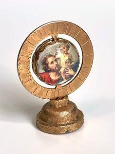 Vintage Dashboard Saint Christopher Bubble Saint | Etsy