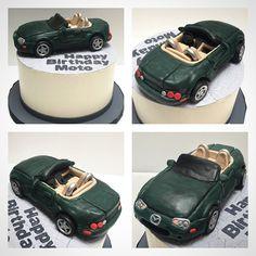 His car and his birthday cake by @supsupjackjack #deliciousarts #car #sugar #edibleart #mazda #convertable #birthdaycake #westla #westpico #losangeles #bakery