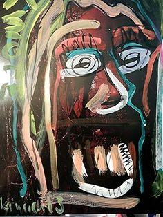 Kopf Schädelmeister - Acryl auf Papier Pop art art brut direkt vom Künstler