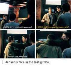 Jensen and the gay angel XD