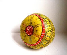 vintage hand painted gourd. $45.00, via Etsy.