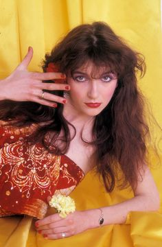 Born 1958 in Bexleyheath, Kent, English singer, songwriter, and record producer Kate Bush topped the UK Singles Chart for four weeks with he. Uk Singles Chart, Experimental Music, Alain Delon, Romy Schneider, Bruce Springsteen, Female Singers, Record Producer, Music Artists, Celebs