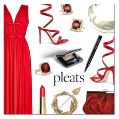 """Give Me Pleats, Please!"" by danielle-487 ❤ liked on Polyvore featuring Giambattista Valli, Gianvito Rossi, Christian Dior, Bobbi Brown Cosmetics and pleats"