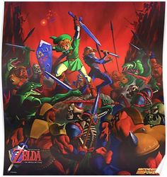 Ocarina of Time Nintendo Power Restored Poster Poster