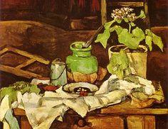 Paul Cézanne, Pot de fleurs sur une table on ArtStack Cezanne Art, Paul Cezanne Paintings, Aix En Provence, Cezanne Still Life, Henri Rousseau, European Paintings, Manet, Arte Popular, Still Life Art