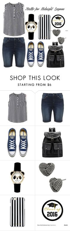 """""""Graduation Party on the Lake"""" by jakenpink ❤ liked on Polyvore featuring Silver Jeans Co., Converse, Betsey Johnson and MICHAEL Michael Kors"""